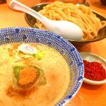 六厘舎 TOKYO。辛つけ麺。ここの店の割りスープは柚子が入ってて美味しいです。