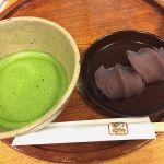 赤福茶屋 ジェイアール名古屋タカシマヤ店で赤福とお抹茶mgmg