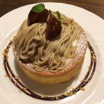 星乃珈琲店 阪急三番街店  モンブラン。モンブランもスフレパンケーキも美味しくて良かったです。美味しかったです。
