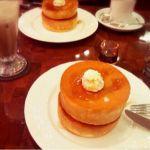 星乃珈琲店 エキア川越店スフレパンケーキのダブルとアイスココアを注文ヾ(@⌒ー⌒@)ノ