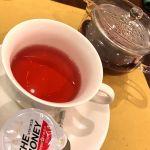 ハーブティのローズヒップライムティー430円♡酸っぱいけど、色がピンクで綺麗…ビタミンいっぱい摂取(。・・。) ☆☆★★★