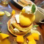 j.s. pancake cafe マークイズみなとみらい店 フローズンヨーグルトの味トロピカルパンケーキ