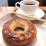 カスカード ゼスト御池店:りんごとキャラメルのクイニーアマンとコーヒー