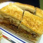 コンパル 栄西店 味噌カツサンド! しっかり味噌の味がするのにしつこくない味わいで美味しゅうございました☆