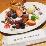 DAVID MYERS CAFE 銀座三越甘すぎず、フワフワのパンケーキが絶妙に美味しかったです。