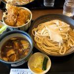 @仏子  肉汁うどんとミニ天丼(イカ)のセット