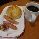 ベローチェ 池尻大橋店   モーニングCセット   高速バスが順調だったので二度目の朝食