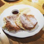 リコッタというよりメレンゲパンケーキ、軽くてペロリと食べれる。小麦粉感ゼロ、好きな人は好きなのかな。