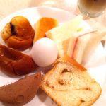 [シャポーブラン サンロード店] モーニングバイキング。好きなパンやゆで卵が食べ放題で¥480!今日を元気に乗り切るためにモリモリ食べます!