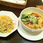 担々麺&半チャーハンセット@四川料理 御馥(イーフー)。担々麺の量が少ない気もするがお味は良し。チャーハンは普通。