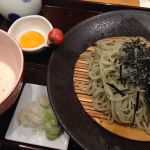 昨日のお昼!越後長岡 小嶋屋 伊勢丹府中店9Fで食べたとろろへぎそば!卵黄だったから、がっつりたまごの味した。美味しかったー