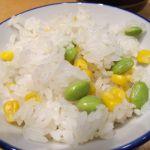 枝豆とコーンの炊き込みごはん  @銀座 ハゲ天 大森東急店