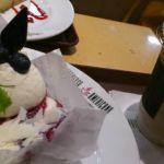 ケーキが食べたくなって、錦糸町のアルカキットにあるエスプレッソ・アメリカーノでお茶。ブルーベリーレアチーズケーキをチョイス。口に広がる甘酸っぱさが至福。