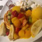 カフェタナカ  ジャズ店  トロピカルパンケーキ ア・ラ・メゾン リコッタパンケーキに沢山のフルーツ☆生クリームとアイスも付いてとっても豪華でした♡