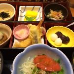 魚とご飯の美味しいお店 四六時中 イオン大垣店  本日は、旬菜二重弁当 ¥920    とろろかけご飯好きです(๑´ڡ`๑) ♥️