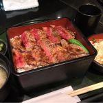 本みやけ 阪急三番街店で、ステーキ重! 肉、やわらかっ!\(^o^)/