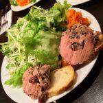 BISTRO 石川亭前菜の鶏レバーのムース。相変わらず前菜のボリュームがおかしい((((;゚Д゚)))))))