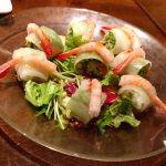 昨夜の マンゴーツリーカフェ 新宿 ♪「甘エビの生春巻き」 #ごちそうフォト #タイ #タイ料理