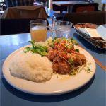アスク ア ジラフ:日替りランチ 鶏のからあげ 野菜のスイートチリソース