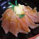 廻る寿司 沼津のさかなや武田丸  マグロ丼(800円)   解凍したばかりで切り身が冷たい