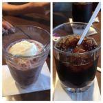 タリーズコーヒー アトレ目黒店   コーヒーフロートとアイスコーヒー   どういう訳か二つ届いてしまった