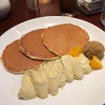 Lipton ポルタ店♪ロイヤルミルクティのパンケーキ♪まろやかなロイヤルミルクティーのクリームに、紅茶のアイス、オレンジの組み合わせが美味しい(≧▽≦)