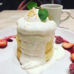 パンケーキ専門店 Butter Premium ららぽーと豊洲 ふわふわスフレパンケーキ ホワイトタワー@パンケーキ専門店 Butter Premium ららぽーと豊洲
