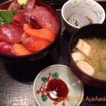 とっても美味しい海鮮丼♪( ´θ`)ノ