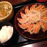 浜松に来ました。餃子12コはさすがに多いです。満腹。