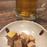 塚田農場で映画時間待ちビールクズ。クリームチーズ正油漬け。#飯テロ