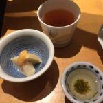 やさい家めい ルミネ横浜店   前菜の筍    右はトロミのついたお出し汁