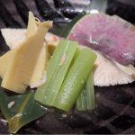「鰆と筍の桜煮」出汁を効かせた塩味で煮上げているから、鰆の穏やかな甘みと気品のある香りと筍の溌剌とした香りが穏やかに融合♪ 錦糸町・四季の蔵
