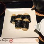 磯辺餅、煎茶付き。@虎屋菓寮 新宿伊勢丹店