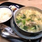 お昼は梅田ヒルトンプラザの新喜楽で定番の鴨鍋定食を頂きました!