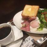上島珈琲店 COREDO日本橋店 ベーコンエッグ厚切りトースト