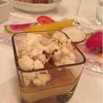オサレポップコーン! フォアグラのフラン あんぽ柿と有機ポップコーン@Sala AMABILE