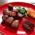 マイビーフが美味しく焼き上がりました〜岩塩orポン酢で頂きました〜