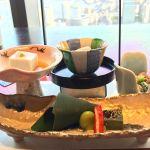 旬菜。胡麻豆腐、穴子笹巻寿司、蓬麩田楽等。@なだ万 汐留47