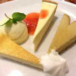 三種のチーズケーキセット♡上品な味わい(*^^*)