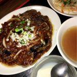 珉珉 光が丘店 茄子の味噌炒めを頂きました。ちょっと甘めでしたが、美味しかったです。