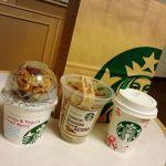 スターバックス・コーヒー 大阪マルビル店ヨーグルトグラノーラ チョコスコーン コーヒー