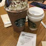 ランチの後は無料チケットを使って、フラペチーノのベンティサイズ✨なんとなく店員さんが引いてたような、、、(^^;;@スターバックス・コーヒー 日比谷シティ店