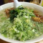 塩半パーコー麺固め油少なめメンマタマゴ抜き薬味青菜多目