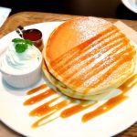 CORAZoN CAFE 塩キャラメルパンケーキ♪ すごい大っきくてびっくり!ふかふかで美味しかった♪