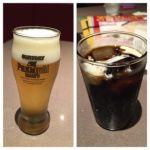金香楼   ドリンク   私はビール、家内はアイスコーヒー。