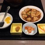金香楼   壺スープの定食セット   夏とは小鉢料理が変わってます