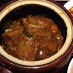 金香楼   牛バラ肉の特製タレ壺煮(800円)   如何にも田舎料理ですがどっしりとお腹に溜まります