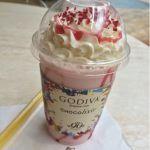 ゴディバ コクーン新都心店 ショコリキサー ホワイトチョコレート ラズベリー&ローズ。2年前のチョコレートラズベリーの進化系ですな♪