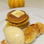 ブラッスリー レカン ハロウィン限定 かぼちゃとリコッタチーズのパンケーキ ♪