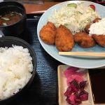 やわらかチキンカツ定食 20食限定、¥780。自分が最後の1食だったっぽい。さすがというかぱさぱさ感が一切なく飛行機酔いのあとだがぺろっと食べてしまった - 正起屋 阪急三番街店